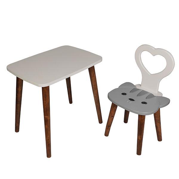 ست میز و صندلی کودک مدل گربه