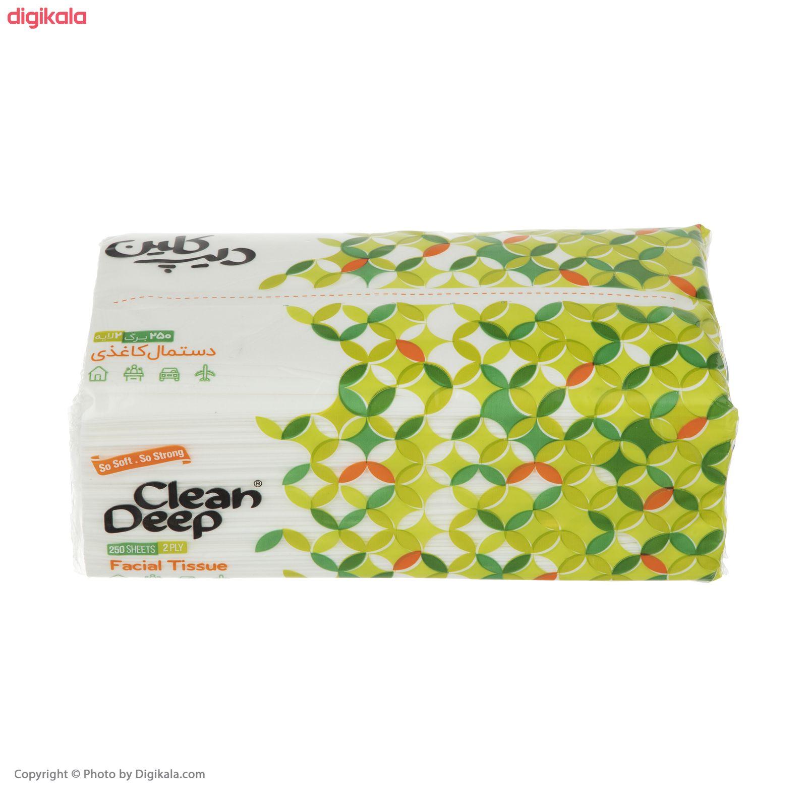 دستمال کاغذی 250 برگ دیپ کلین مدل 03  main 1 1