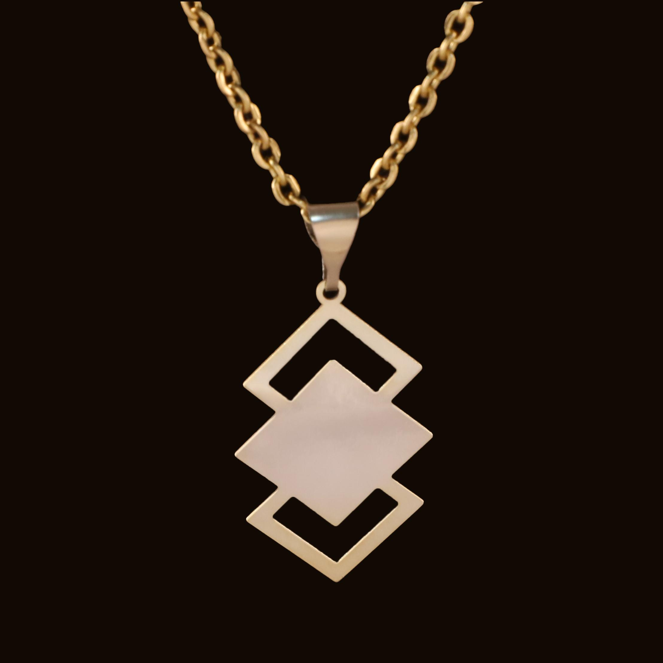گردنبند طلا 18 عیار زنانه آمانژ کد D10030
