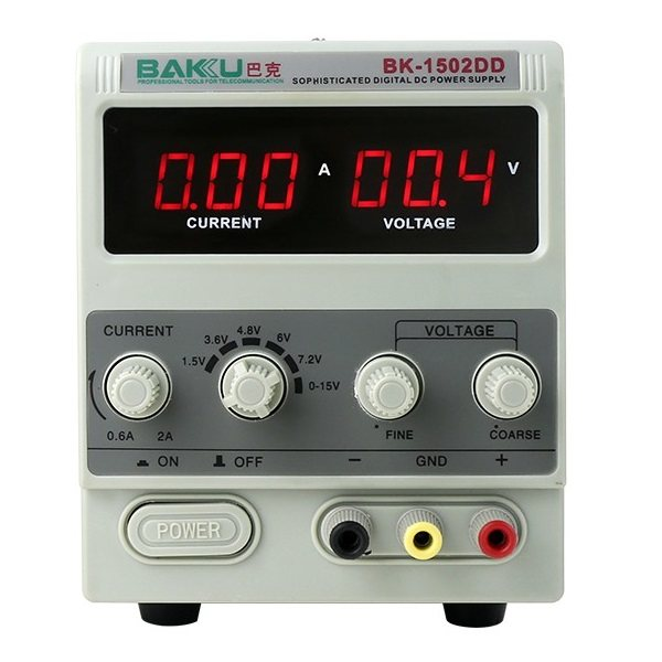 منبع تغذیه الکتریکی 15ولت 2 امپر باکو مدل 1502DD