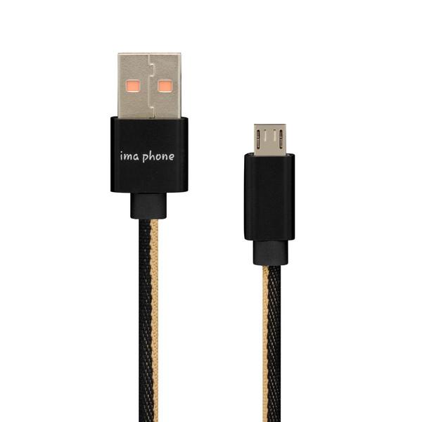 کابل تبدیل USB به microUSB ایمافون مدل ima-A63 طول 1 متر