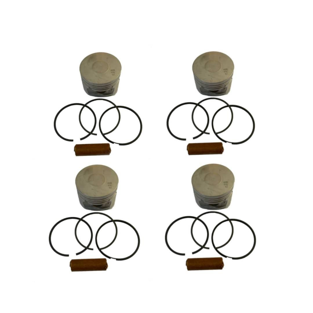 پيستون و رينگ و گژن پين ماهله كد 124000 مناسب براي پژو 206 تيپ 5 بسته 4 عددي