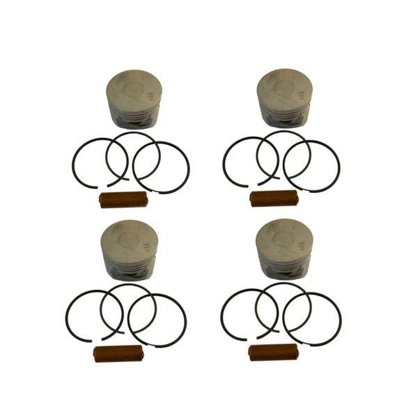 پیستون و رینگ و گژن پین ماهله کد 124000 مناسب برای پژو 206 تیپ 5 بسته 4 عددی