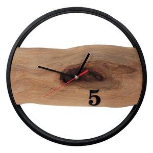 ساعت دیواری چوبی طرح روستیک مدل CH102