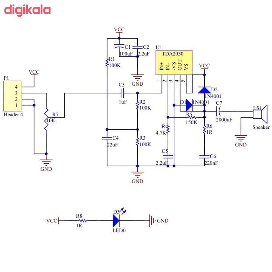 ماژول آمپلی فایر مدل TDA2030A  main 1 9