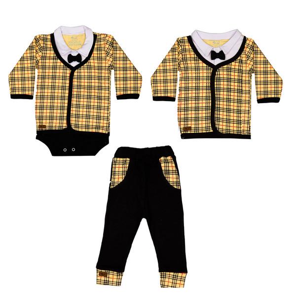 ست 3 تکه لباس نوزادی تربچه مدل آرمان