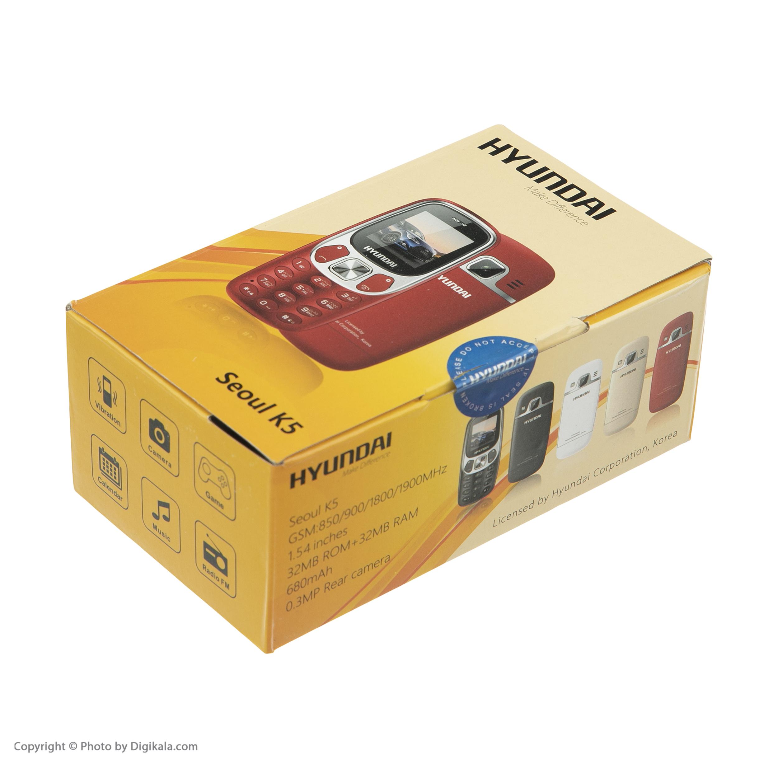 گوشی موبایل هیوندای مدل Seoul K5 دو سیم کارت main 1 16