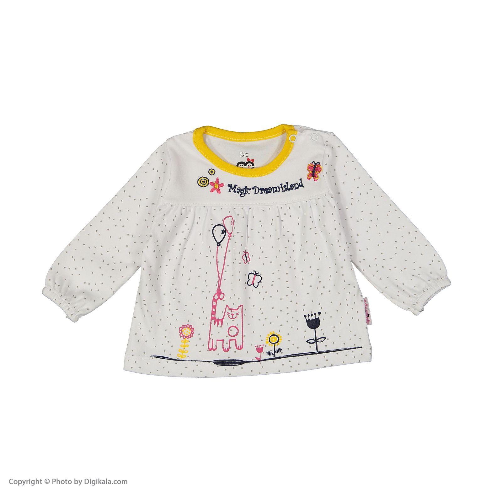 ست تی شرت و شلوار دخترانه آدمک مدل 2171146-19 main 1 4