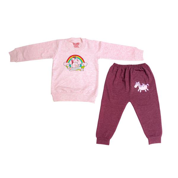 ست تی شرت و شلوار نوزادی مدل تک شاخ کد 22