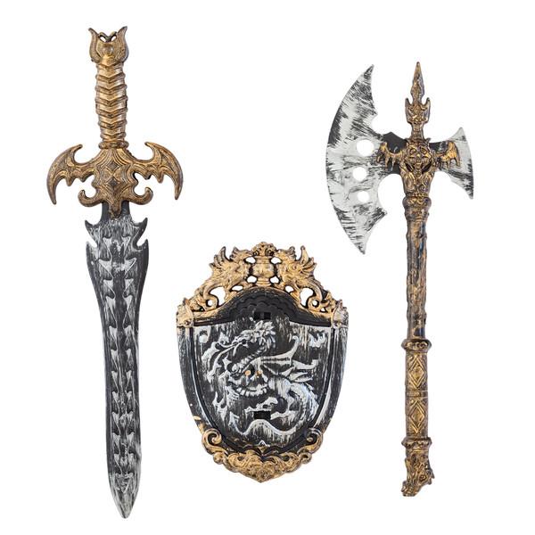 اسباب بازی جنگی مدل شمشیر و تبر
