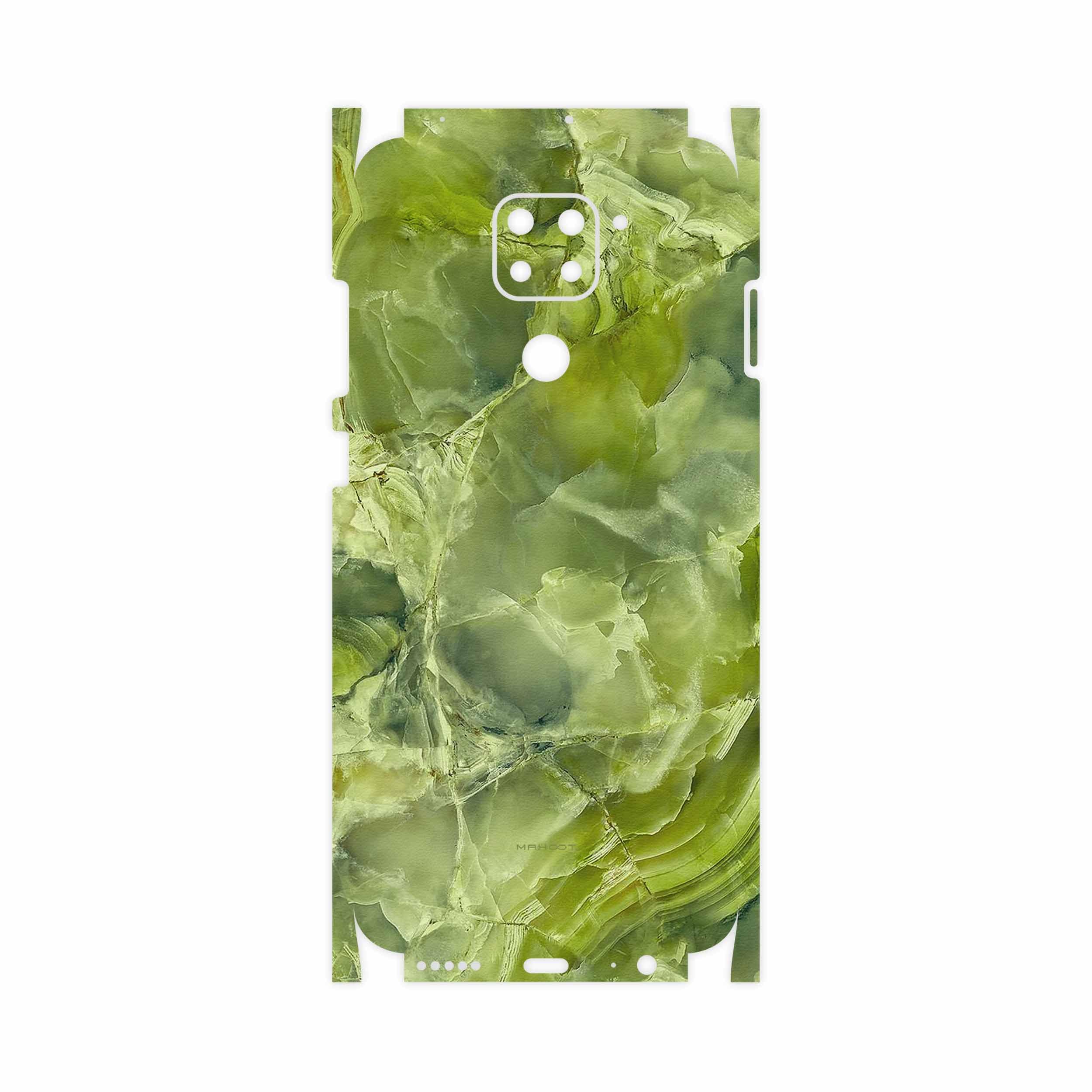 برچسب پوششی ماهوت مدل Green Crystal Marble-FullSkin مناسب برای گوشی موبایل شیائومی Redmi Note 9