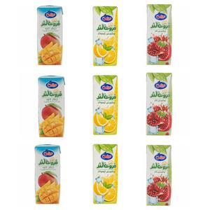 آبمیوه انار و انبه و لیموناد میهن - 200 میلی لیتر بسته 9 عددی