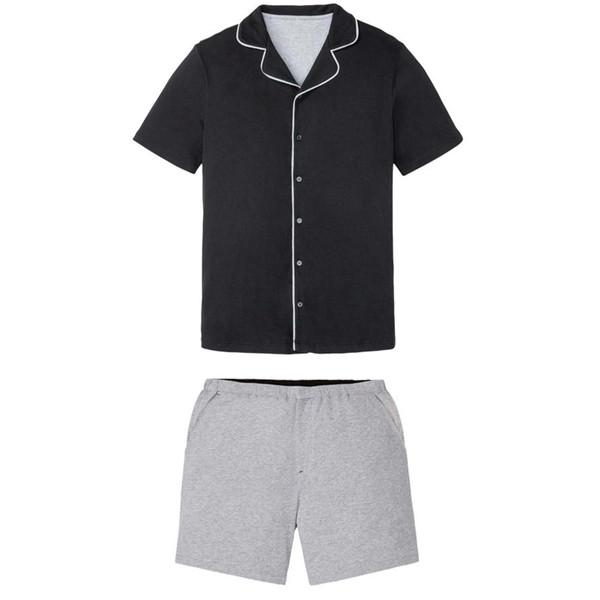 ست پیراهن آستین کوتاه و شلوارک مردانه لیورجی مدل p100291203