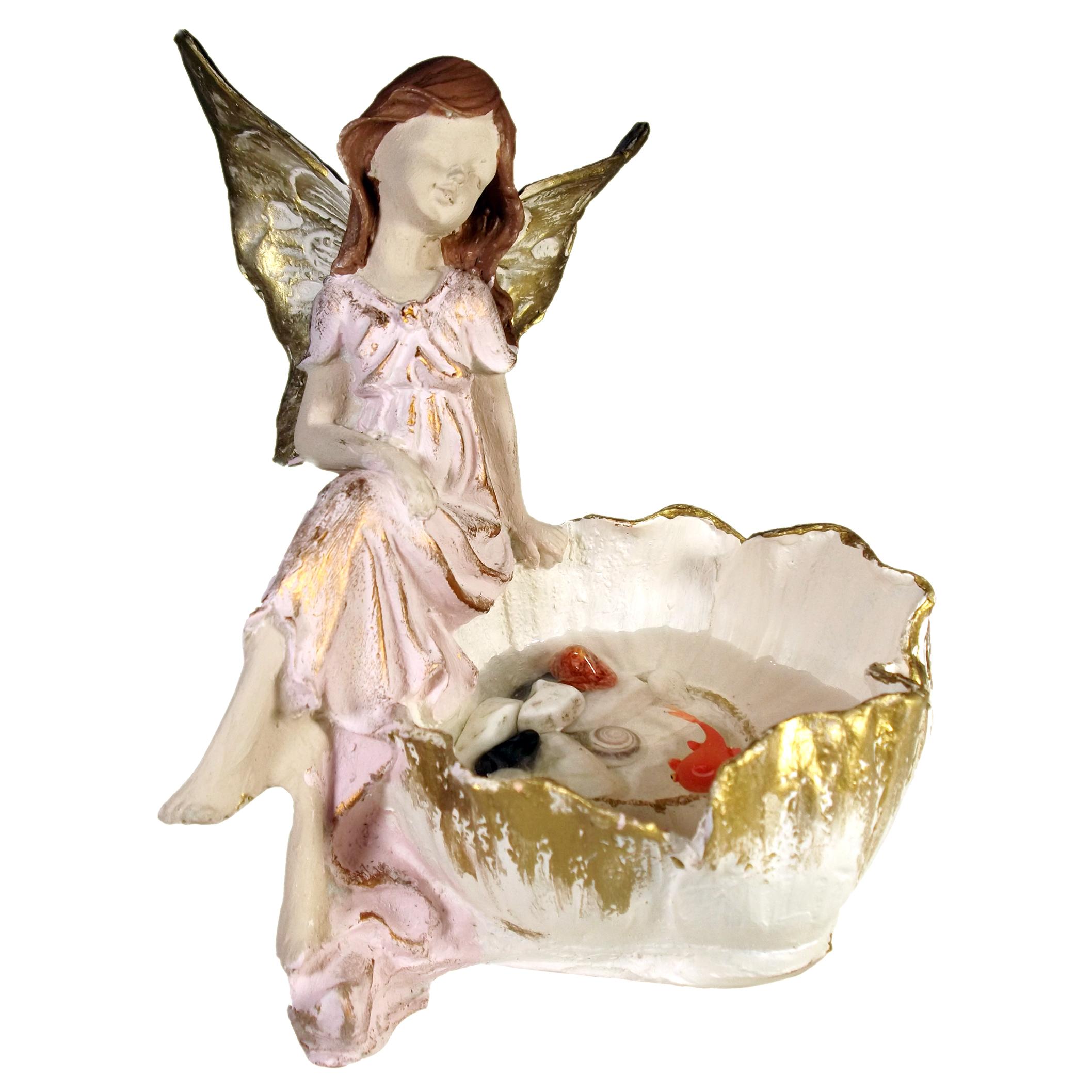 دکوری مدل حوض ماهی طرح فرشته