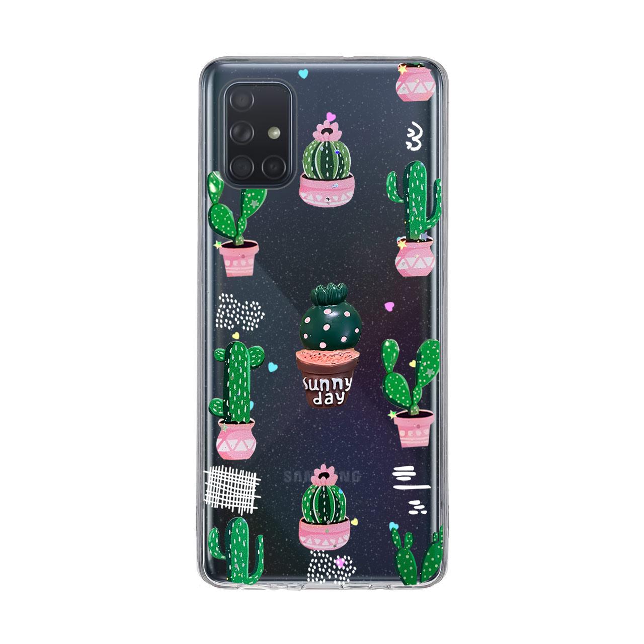 بررسی و {خرید با تخفیف} کاور دکین مدل Fanzy طرح کاکتوس مناسب برای گوشی موبایل سامسونگ Galaxy A71 اصل