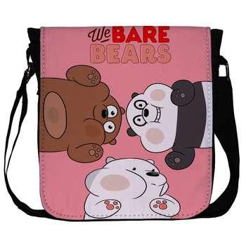 کیف دوشی دخترانه طرح خرس های سه قلو کد 1057