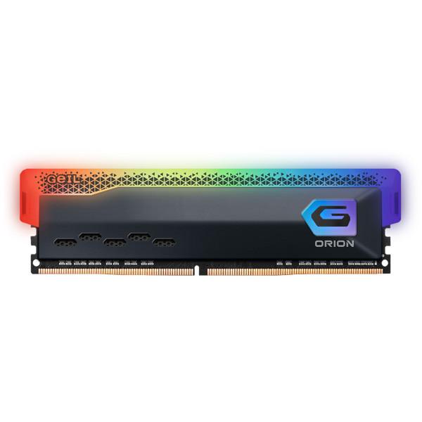 رم دسکتاپ DDR4 تک کاناله 3200 مگاهرتز CL16 گیل مدل Orion RGB ظرفیت 16 گیگابایت