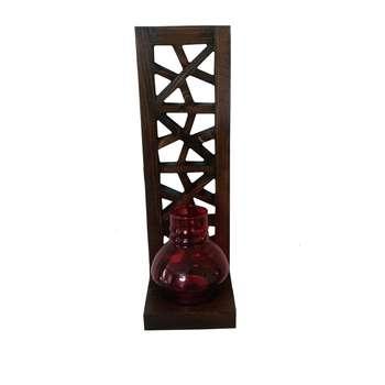 جاشمعی دیواری چوبی طرح سنتی کد 02همراه با حباب شیشه ای