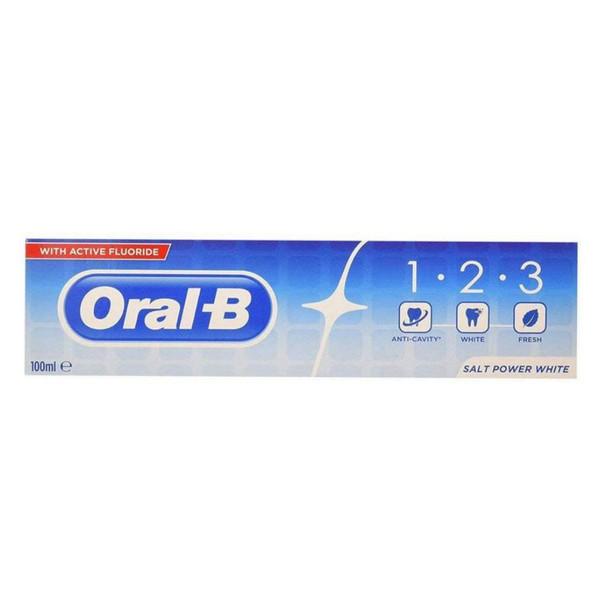 خمیر دندان اورال- بی مدل  1.2.3 Salt Power White حجم 100 میلی لیتر