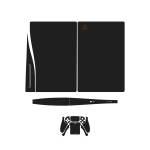 برچسب کنسول و دسته بازی PS5 ماهوتمدل Matte-Black