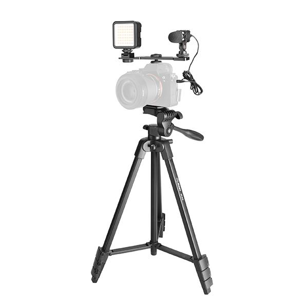 سه پایه دوربین نست مدل NT-510 به همراه گیره نگهدارنده موبایل main 1 6