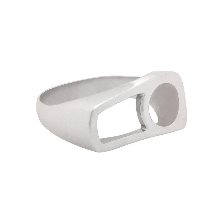 انگشتر نقره زنانه کد R207Psil -  - 5