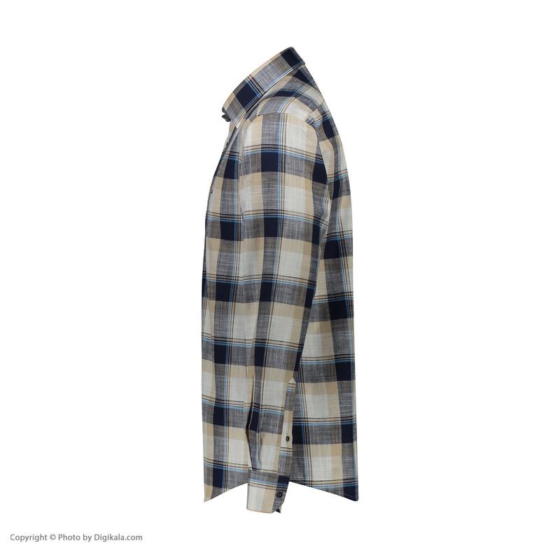 پیراهن آستین بلند مردانه ال سی من مدل 02181100-CREAM289
