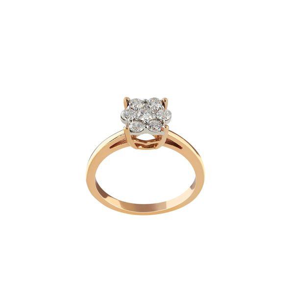انگشتر طلا 18 عیار زنانه جواهری سروری مدل 10663