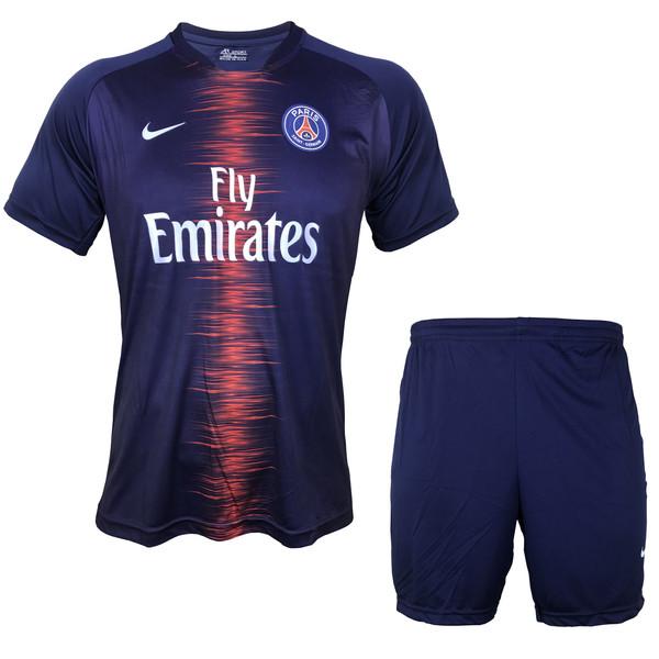 ست پیراهن و شورت ورزشی مردانه ای آر اسپورت طرح پاریس سن ژرمن مدل 01