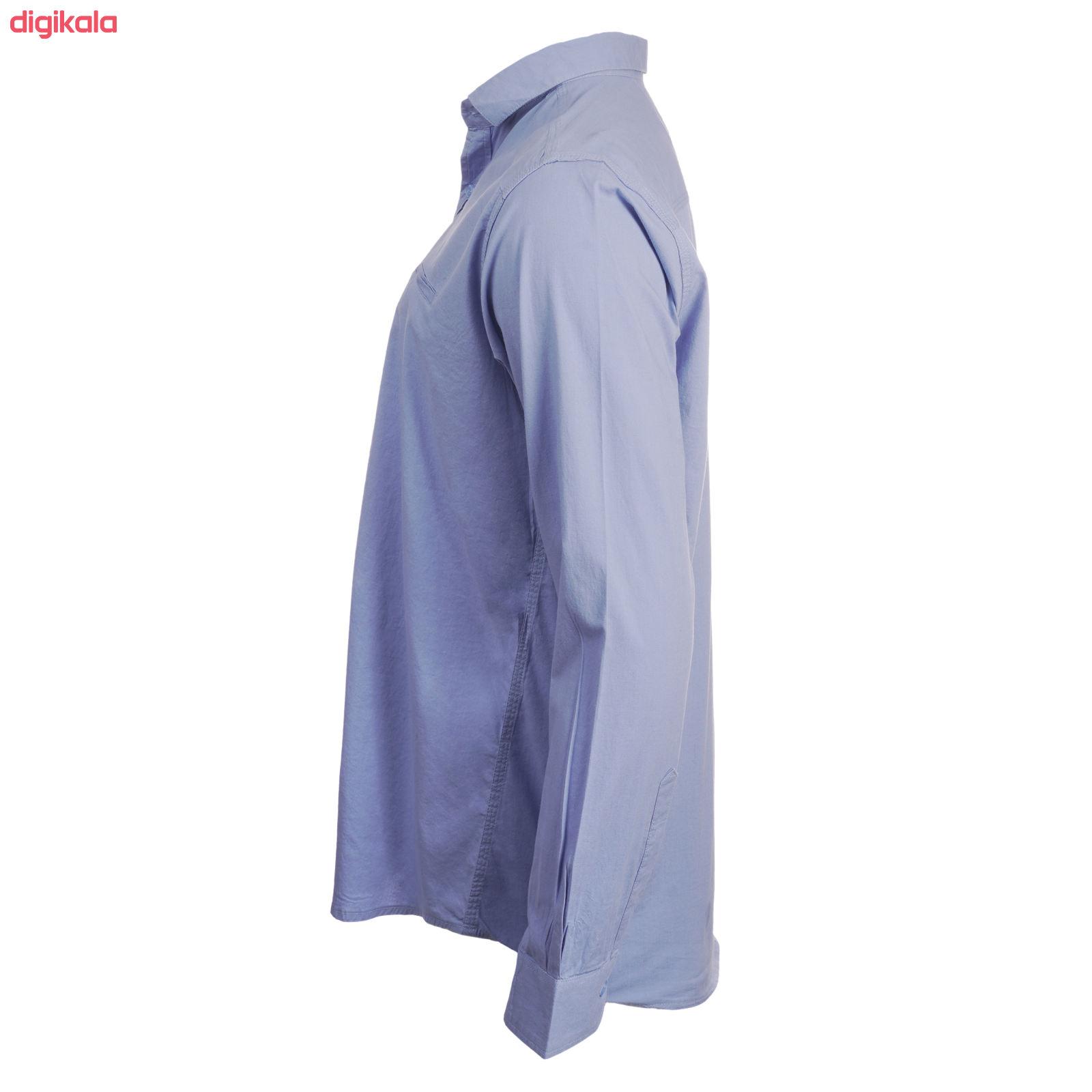 پیراهن آستین بلند مردانه ناوالس مدل PN-L main 1 2
