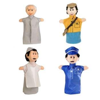 عروسک نمایشی مدل مشاغل کلبه عروسکی مجموعه 4 عددی