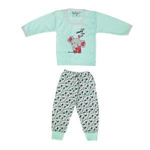 ست تی شرت آستین بلند و شلوار نوزادی کد 5584