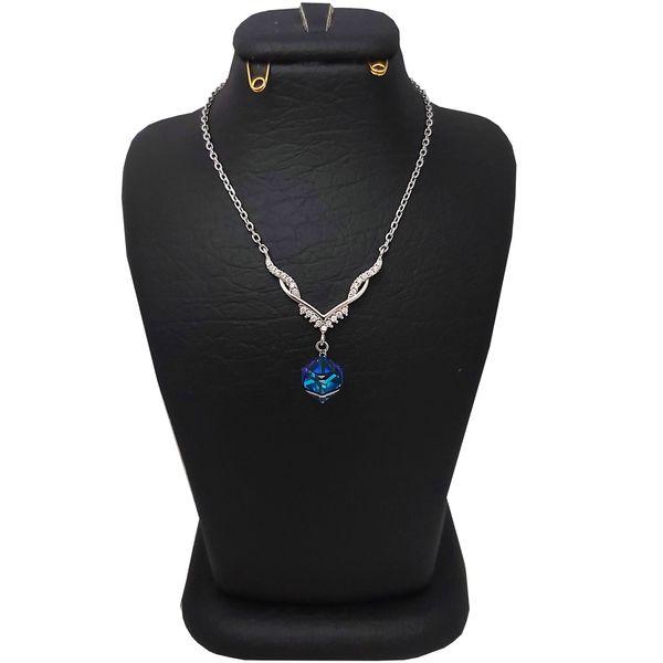 گردنبند نقره زنانه سواروسکی مدل 32 کد 021