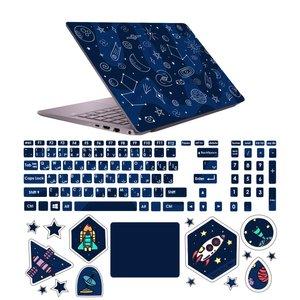 استیکر لپ تاپ صالسو آرت مدل 5091 hk به همراه برچسب حروف فارسی کیبورد