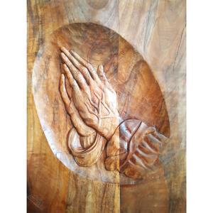 تابلو منبت کاری طرح دستان دعاگو کد Km0024