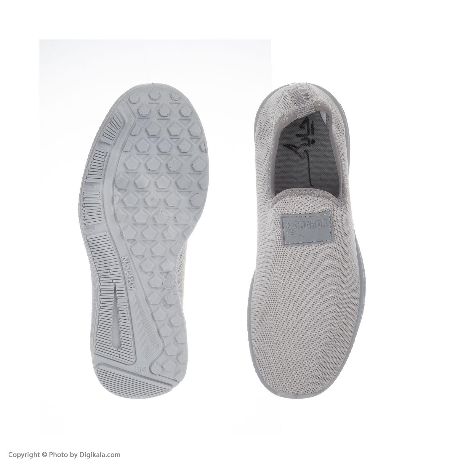 کفش راحتی چابک مدل رامش رنگ طوسی -  - 4