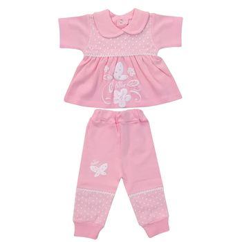 ست بلوز و شلوار نوزادی دخترانه کد 990410