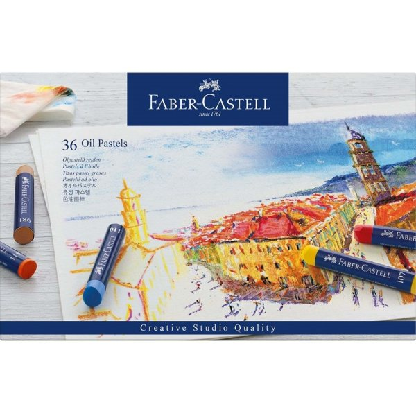 پاستل روغنی 36 رنگ فابر کاستل مدل creative studio