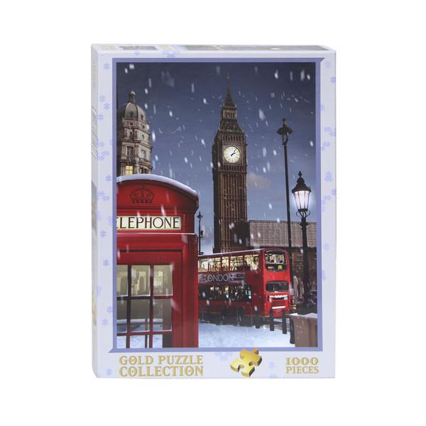 پازل 1000 تکه گلد پازل طرح لندن در کریسمس کد 61536