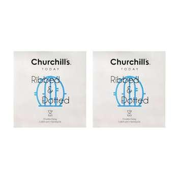 کاندوم چرچیلز مدل شیاردار و خاردار مجموعه 2 عددی