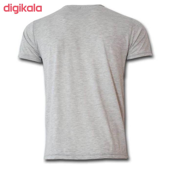 تیشرت آستین کوتاه مردانه طرح تاتو رنگ طوسی main 1 1