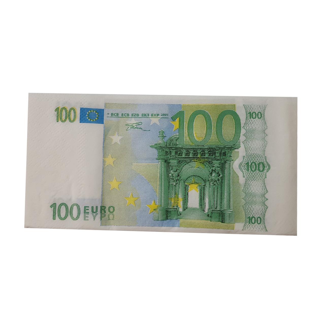 دستمال  کاغذی  جیبی  10 برگ  طرح یورو
