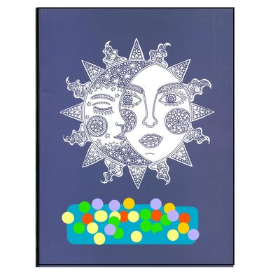 کتاب آبی آرامش رنگ آمیزی بزرگسالان ضد استرس اثر سارا ذوالریاستین انتشارات پشوتن