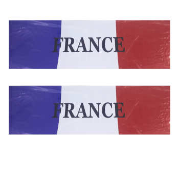 برچسب پارکابی خودرو طرح پرچم فرانسه مدل Y47 بسته دو عددی