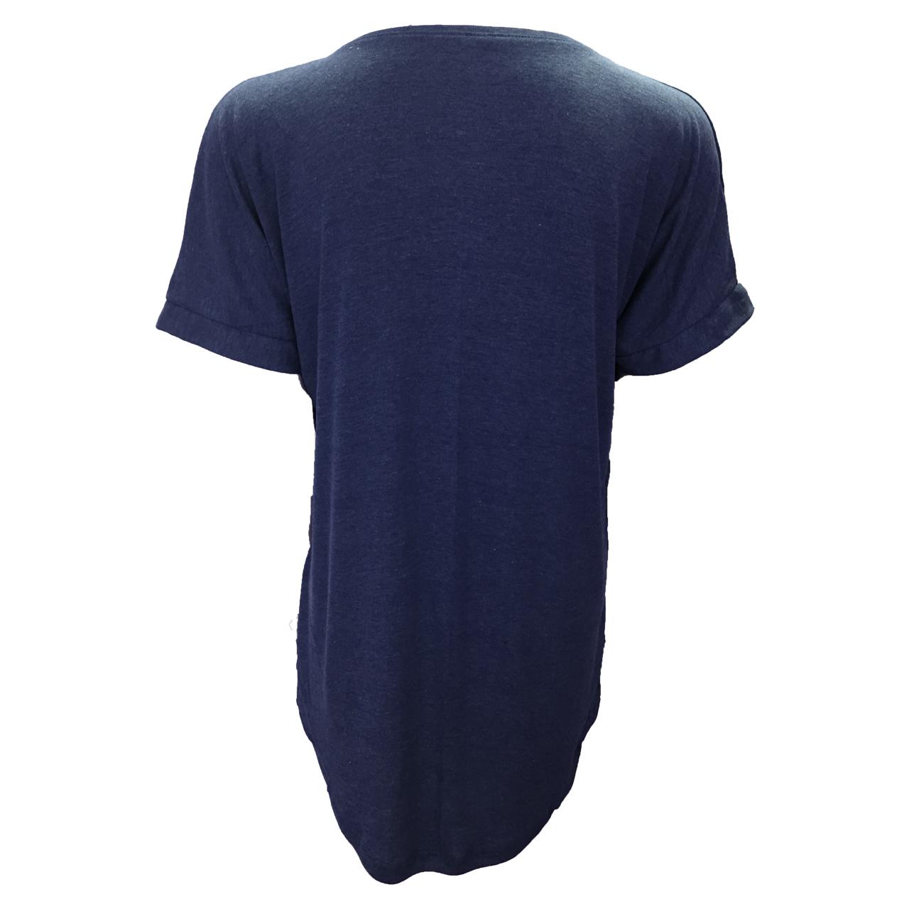 تی شرت آستین کوتاه زنانه مدل WATERFALL کد tms-858 رنگ سرمه ای