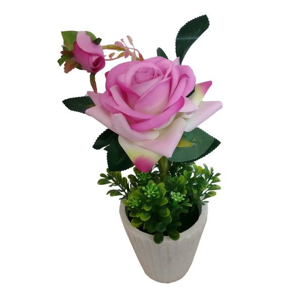 گلدان به همراه گل مصنوعی کد RC81