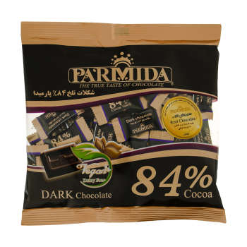 شکلات تلخ 84 درصد پارمیدا مقدار 220 گرم
