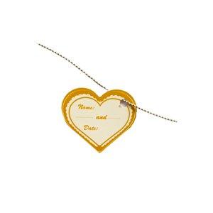 کارت دعوت  طرح قلب مدل اتیکت بسته 25 عددی