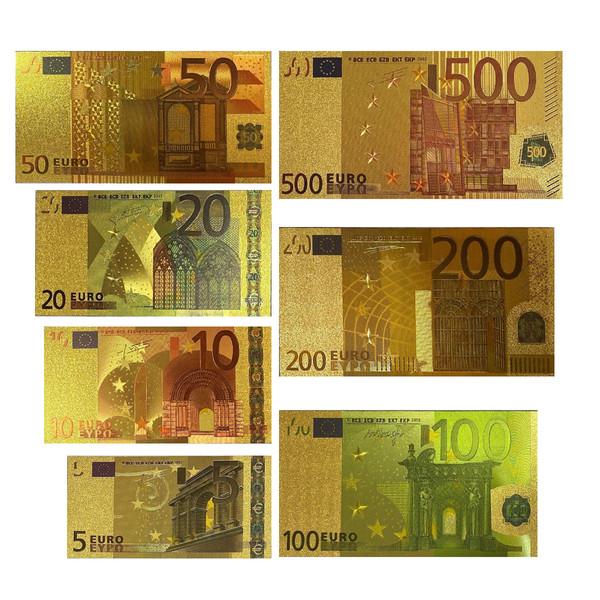 اسکناس تزیینی طرح یورو مجموعه 7 عددی