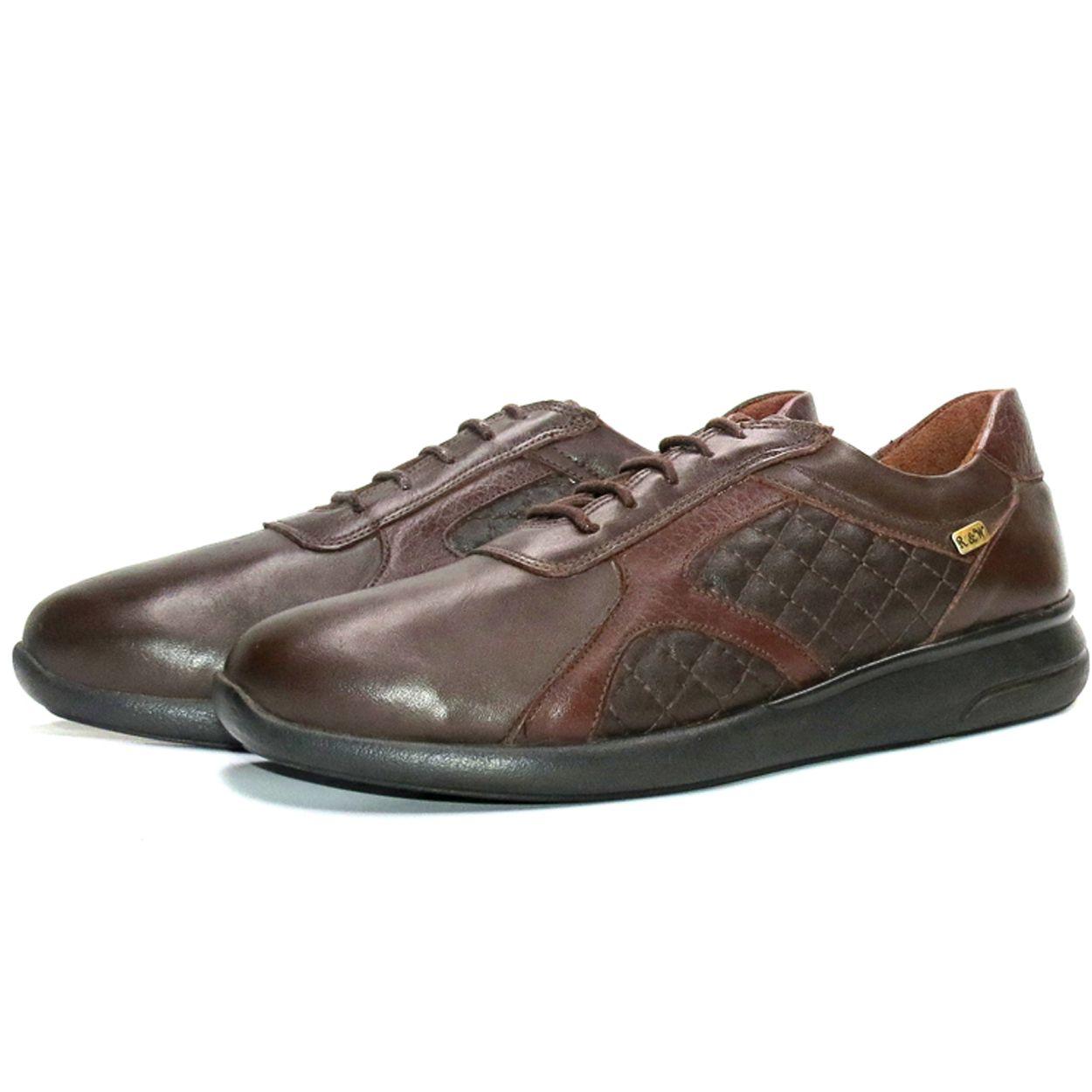 کفش روزمره زنانه آر اند دبلیو مدل 761 رنگ قهوه ای -  - 6
